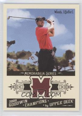 2009 Upper Deck Goodwin Champions Memorabilia #GCM-WD - Tiger Woods