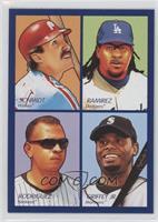 Manny Ramirez, Mike Schmidt, Alex Rodriguez, Ken Griffey Jr.