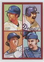 Andre Ethier, Kirk Gibson, Clayton Kershaw, Russell Martin