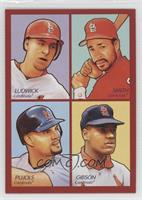 Ryan Ludwick, Ozzie Smith, Albert Pujols, Bob Gibson