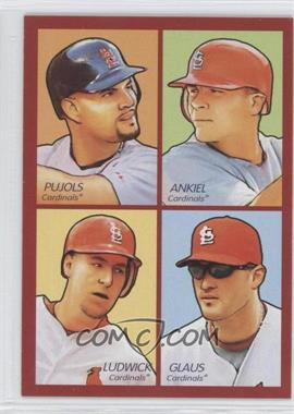 2009 Upper Deck Goudey 4-in-1 Red #35-30 - Albert Pujols, Rick Ankiel, Troy Glaus, Ryan Ludwick