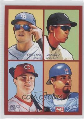 2009 Upper Deck Goudey 4-in-1 Red #35-35 - Jackie Bradley Jr., Evan Longoria, Geovany Soto