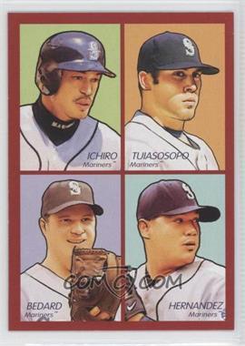 2009 Upper Deck Goudey 4-in-1 Red #35-40 - Ichiro Suzuki, Matt Tuiasosopo, Erik Bedard, Felix Hernandez