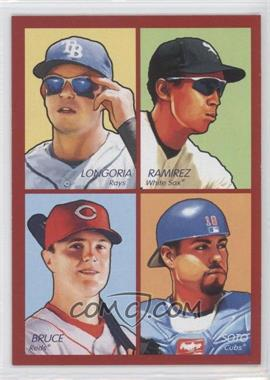 2009 Upper Deck Goudey 4-in-1 Red #35-70 - Evan Longoria, Geovany Soto, Jay Bruce, Alexei Ramirez
