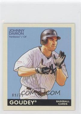2009 Upper Deck Goudey Mini Black Back #143 - Johnny Damon /21