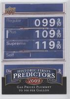 Gas Prices Plummet to 99 cents per Gallon