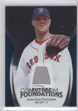 2009 Upper Deck Icons - Future Foundations - Blue Jerseys [Memorabilia] #FF-JP - Jonathan Papelbon