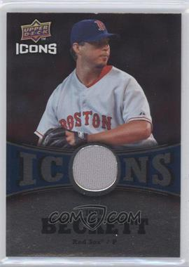 2009 Upper Deck Icons - Icons - Blue Jerseys [Memorabilia] #IC-BE - Josh Beckett