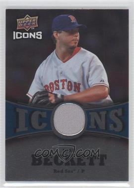 2009 Upper Deck Icons Icons Blue Jerseys [Memorabilia] #IC-BE - Josh Beckett