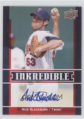 2009 Upper Deck Inkredible Series 2 #INK-NB - Nick Blackburn