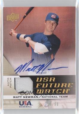 2009 Upper Deck Signature Stars - USA Future Watch Patch Autographs #UFWA-15 - Matt Newman /50