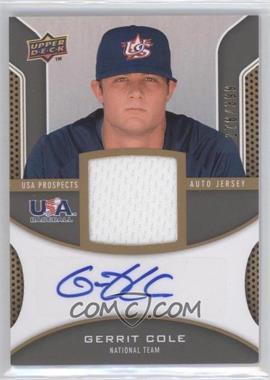 2009 Upper Deck Signature Stars - USA Prospects Autograph Jerseys #USA-CO - Gerrit Cole /399