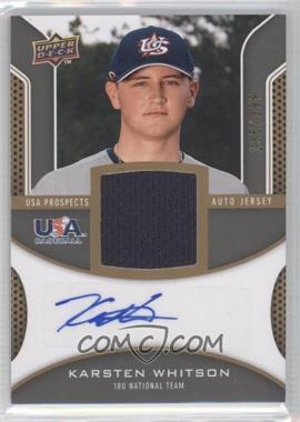 2009 Upper Deck Signature Stars - USA Prospects Autograph Jerseys #USA-KW - Karsten Whitson /399