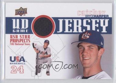 2009 Upper Deck Signature Stars - USA Star Prospects - UD Game Jersey [Memorabilia] #GJU-8 - Bryce Harper