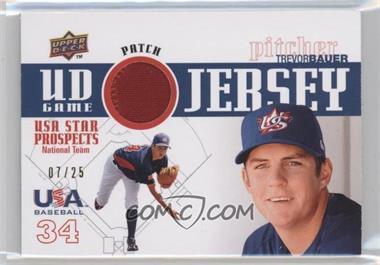 2009 Upper Deck Signature Stars - USA Star Prospects - UD Game Jersey Patch [Memorabilia] #GPU-21 - Trevor Bauer /25