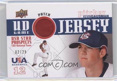 2009 Upper Deck Signature Stars - USA Star Prospects - UD Game Jersey Patch [Memorabilia] #GPU-6 - Kevin Gausman /25