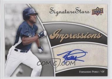2009 Upper Deck Signature Stars Impressions Autographs #IMP-PE - Fernando Perez