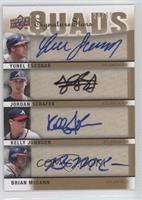 Yunel Escobar, Jordan Schafer, Kelly Johnson, Brian McCann /25