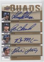 Yunel Escobar, Ryan Church, Garret Anderson, Brian McCann /15