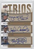 Brandon Phillips, Jake Peavy, Victor Martinez /7