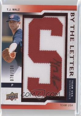 2009 Upper Deck Signature Stars USA By the Letter Signatures #BTLU-WA.S - T.J. Walz (letter S) /100