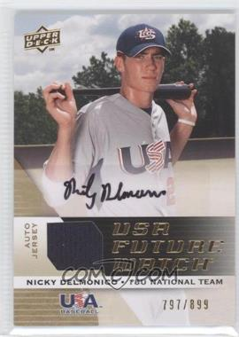 2009 Upper Deck Signature Stars USA Future Watch Jersey Autographs #UFWA-27 - Nicky Delmonico /899