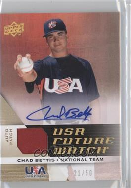 2009 Upper Deck Signature Stars USA Future Watch Patch Autographs #UFWA-4 - Chad Bettis /50