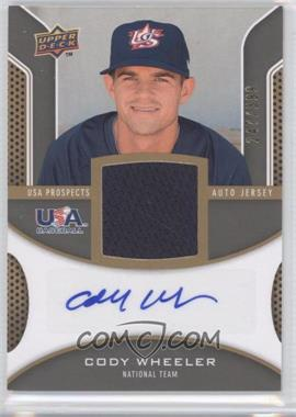 2009 Upper Deck Signature Stars USA Prospects Autograph Jerseys #USA-CW - Cody Wheeler /399