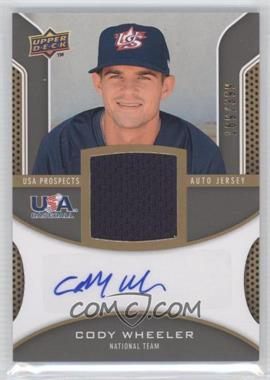 2009 Upper Deck Signature Stars USA Prospects Autograph Jerseys #USA-CW - Cody Wheeler /399