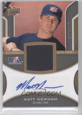 2009 Upper Deck Signature Stars USA Prospects Autograph Jerseys #USA-MN - Matt Newman /399