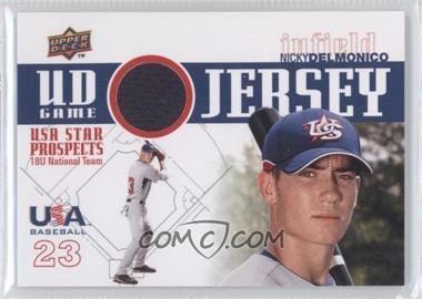 2009 Upper Deck Signature Stars USA Star Prospects UD Game Jersey [Memorabilia] #GJU-5 - Nicky Delmonico
