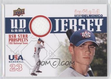 2009 Upper Deck Signature Stars USA Star Prospects UD Game Jersey [Memorabilia] #GJU-5 - Nicky Delmonico