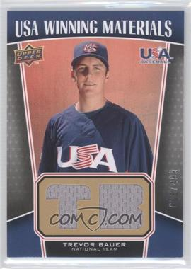 2009 Upper Deck Signature Stars USA Winning Materials #UWM-21 - Trevor Bauer /499