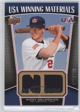 2009 Upper Deck Signature Stars USA Winning Materials #UWM-5 - Nicky Delmonico /499