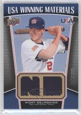 2009 Upper Deck Signature Stars USA Winning Materials #UWM-5 - Nicky Delmonico /499