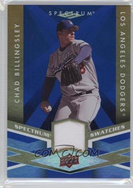 2009 Upper Deck Spectrum - Spectrum Swatches - Blue #SS-BI - Chad Billingsley
