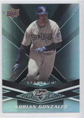 2009 Upper Deck Spectrum Black #78 - Adrian Gonzalez /50