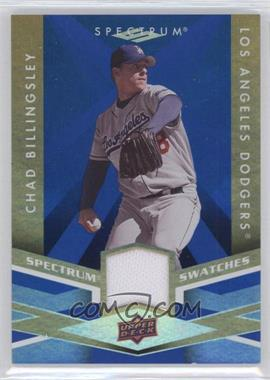 2009 Upper Deck Spectrum Spectrum Swatches Blue #SS-BI - Chad Billingsley