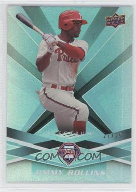 2009 Upper Deck Spectrum Turquoise #75 - Jimmy Rollins /25