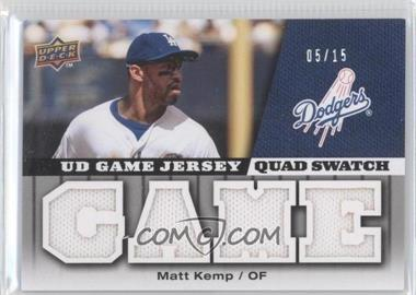 2009 Upper Deck UD Game Jersey Quad Swatch #GJ-MK - Matt Kemp /15