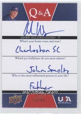 2009 Upper Deck USA Baseball - Box Set Q&A National Team #QANT-AW - Asher Wojciechowski /65