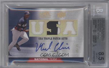 2009 Upper Deck USA Baseball - Box Set Triple Patch Autograph National Team #TPANT-MC - Michael Choice /35 [BGS8.5]