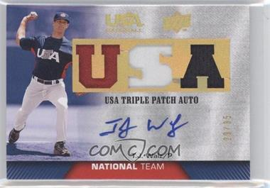 2009 Upper Deck USA Baseball - Box Set Triple Patch Autograph National Team #TPANT-TW - T.J. Walz /35