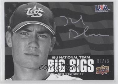 2009 Upper Deck USA Baseball Box Set Big Sigs 18U National Team #BS18U-18 - Nick Delmonico /75