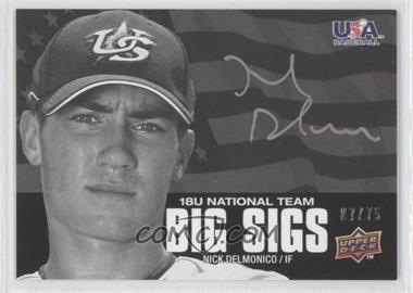 2009 Upper Deck USA Baseball Box Set Big Sigs 18U National Team #BS18U-ND - Nicky Delmonico /75