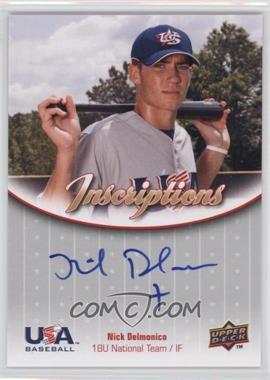 2009 Upper Deck USA Baseball Box Set Inscriptions 18U National Team #IN18U-ND - Nick Delmonico