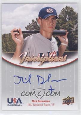 2009 Upper Deck USA Baseball Box Set Inscriptions 18U National Team #IN18U-ND - Nick Delmonico