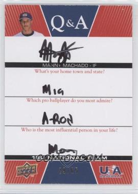 2009 Upper Deck USA Baseball Box Set Q&A 18U National Team #QA18U-MM - Mark Machtolf /65