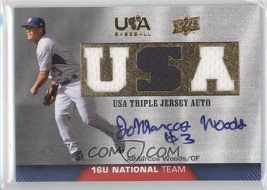 2009 Upper Deck USA Baseball Box Set Triple Jersey 16U National Team Autograph [Autographed] #TJA16U-JW - JoMarcos Woods