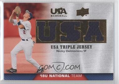2009 Upper Deck USA Baseball Box Set Triple Jersey 18U National Team #TJ18U-ND - Nicky Delmonico